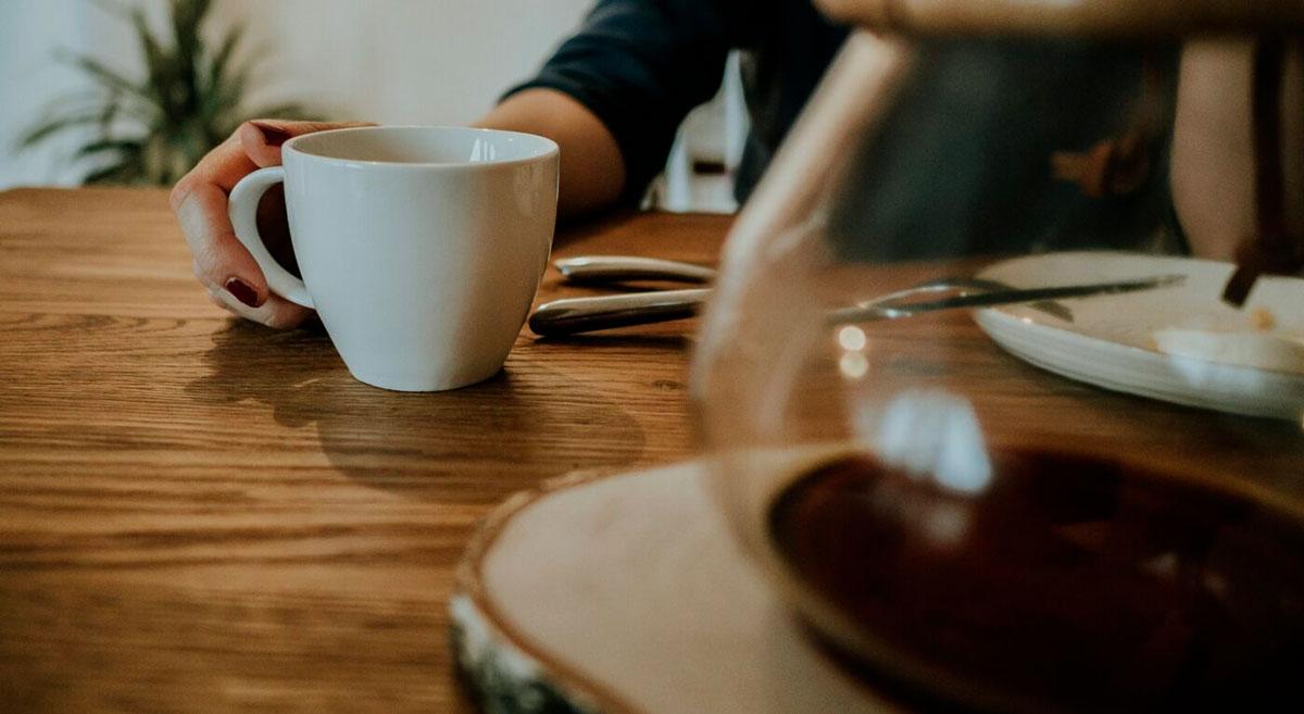 coffee set on table