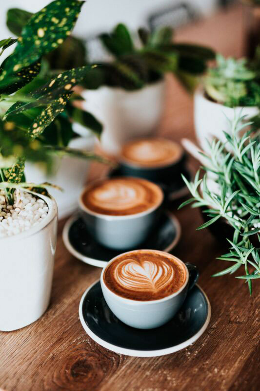 Coffee cups on the table